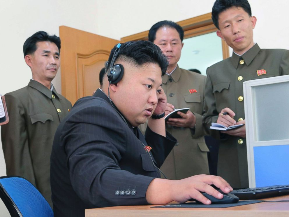 PHOTO: Kim Jong-un gives field guidance to a machine plant in this undated photo.