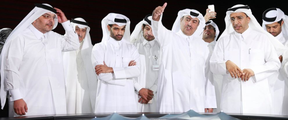 PHOTO: Secretary-General Hassan Al-Thawadi, third from left, of Qatars Supreme Committee for Delivery and Legacy, the nations 2022 World Cup organizing committee is pictured.