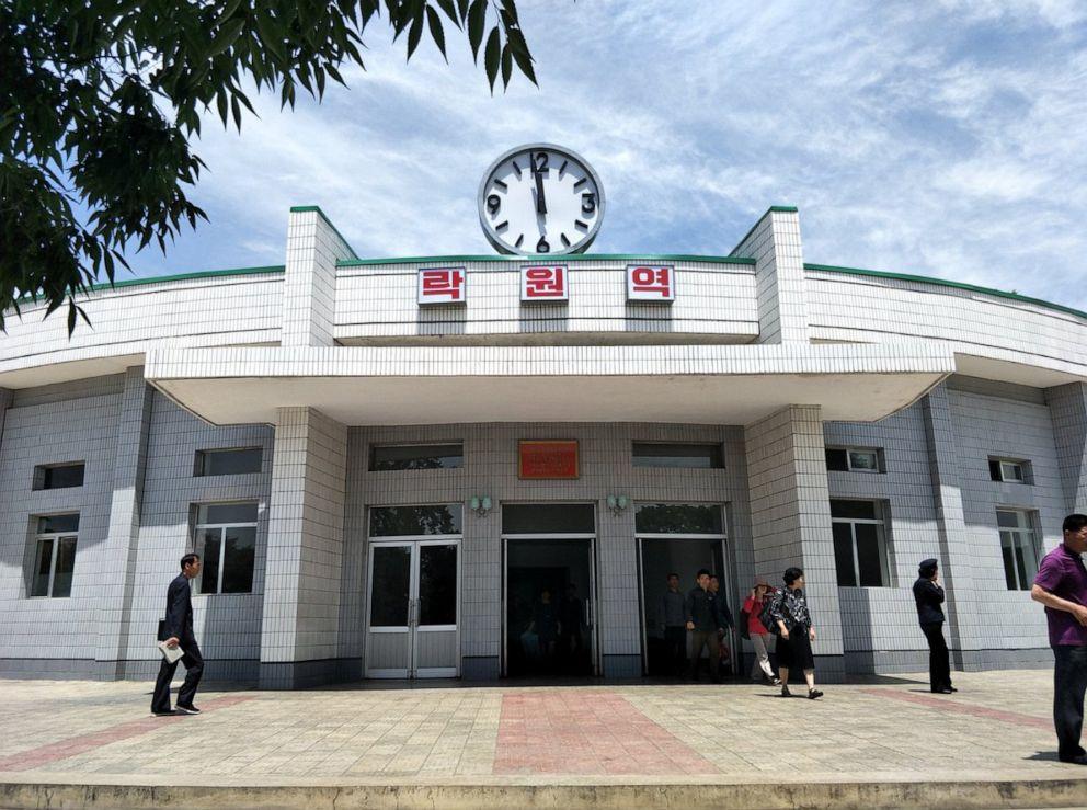 PHOTO: The entrance to Rakwon Station, Pyongyang, North Korea, June 8, 2019.