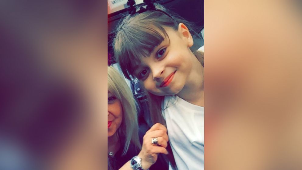 An undated photo of 8-year-old Saffie Roussos; she died in the Manchester, England, attack on May 22, 2017.