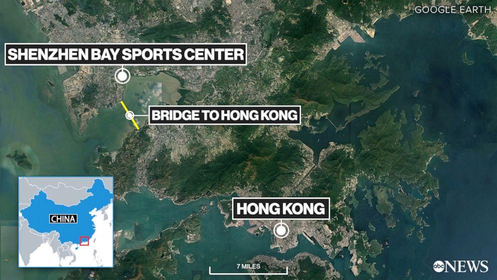 PHOTO: Shenzhen Hong Kong map