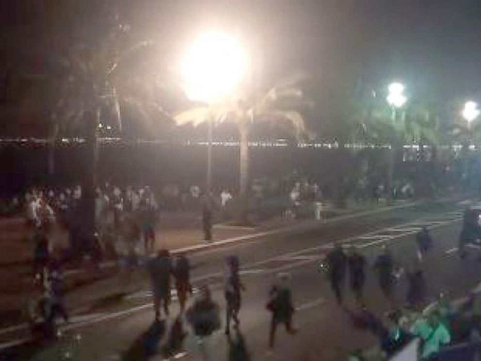 PHOTO: Crowds ran in a panic on Bastille Day, in Nice, France, July 14, 2016.