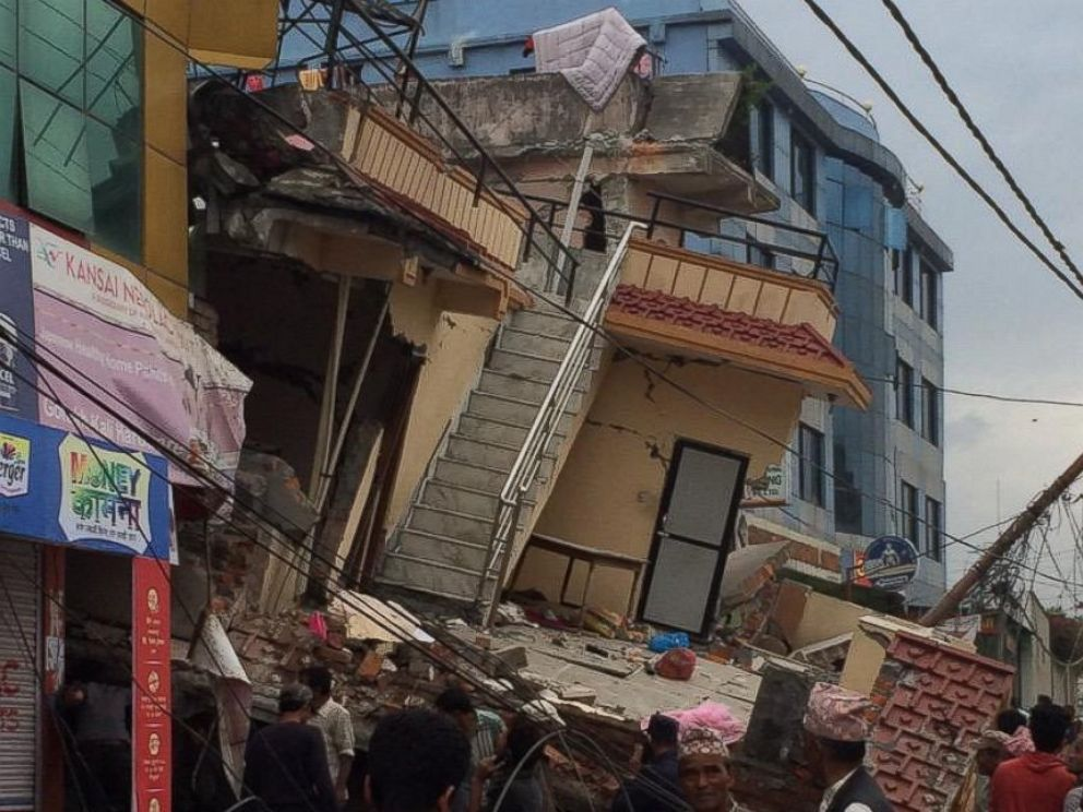 PHOTO: Damage in the city of Kathmandu after a massive earthquake strikes Nepal.