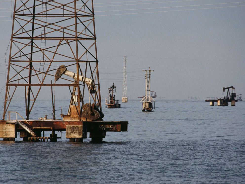 PHOTO: Oil platforms on Lake Maracaibo, Venezuela, June 2014.