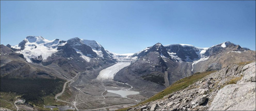The Athabasca Glacier in Alberta, Canada is seen here in 2011.