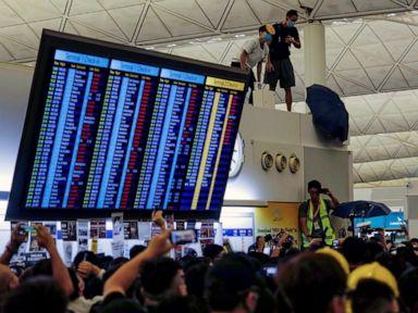 Flights resuming at Hong Kong airport after protest chaos