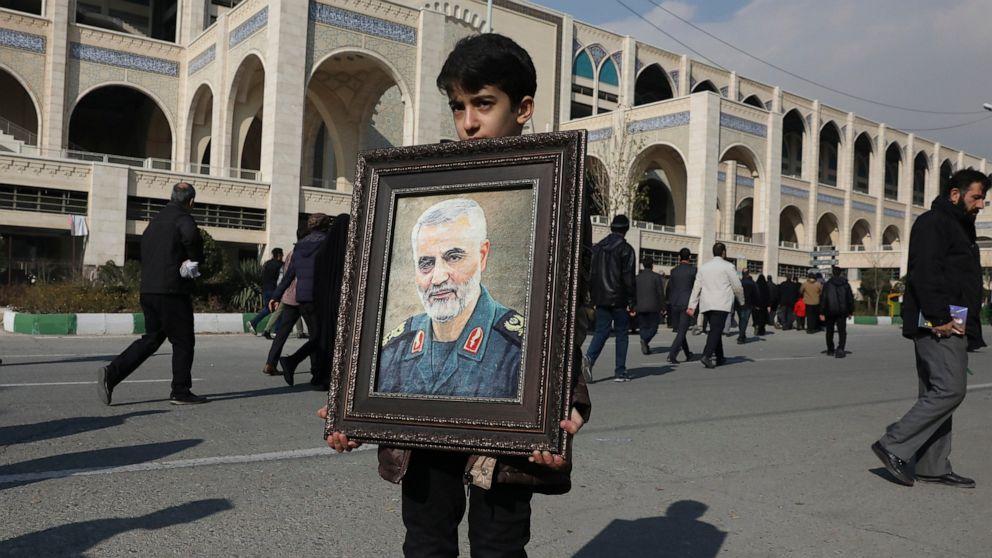千バグダッドを追悼イランの一般殺される