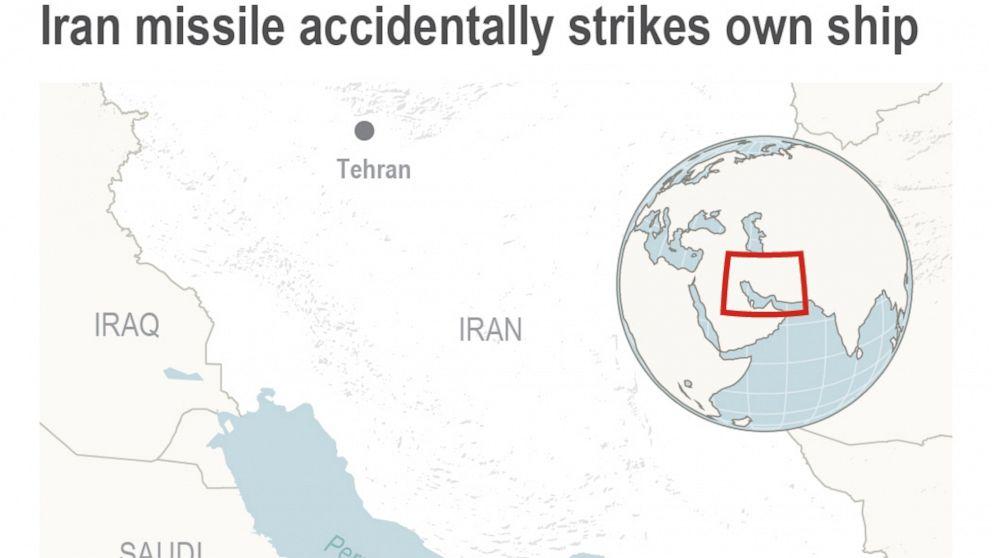 Iran raises death toll in missile strike: 19 sailors killed