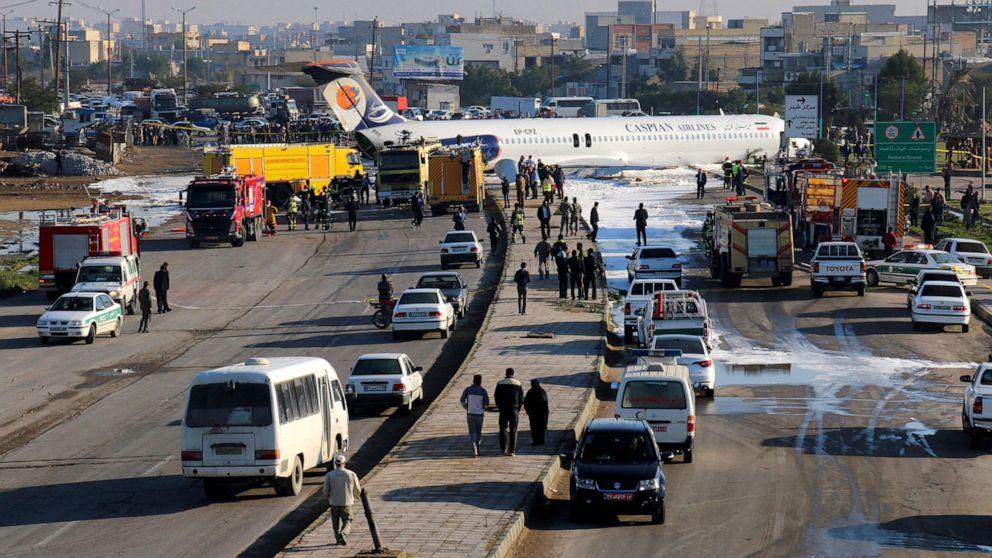 Ιρανικό αεροσκάφος πέλματα στο δρόμο; 150 επιβάτες ασφαλείς