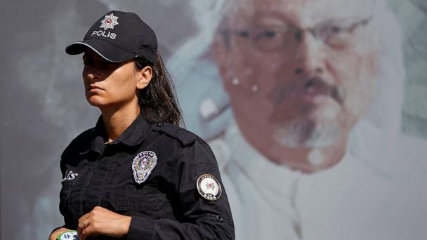 Khashoggi remembered outside Saudi consulate where he died