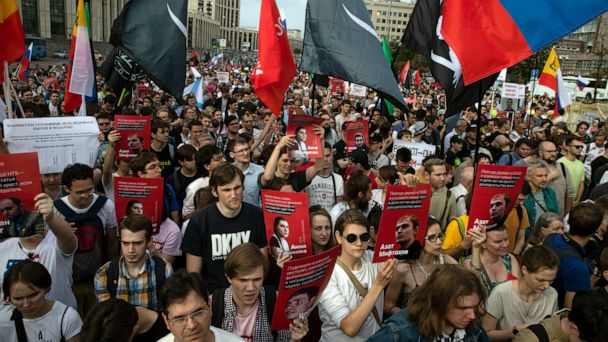 2,000 demonstrate in Moscow against police falsifications