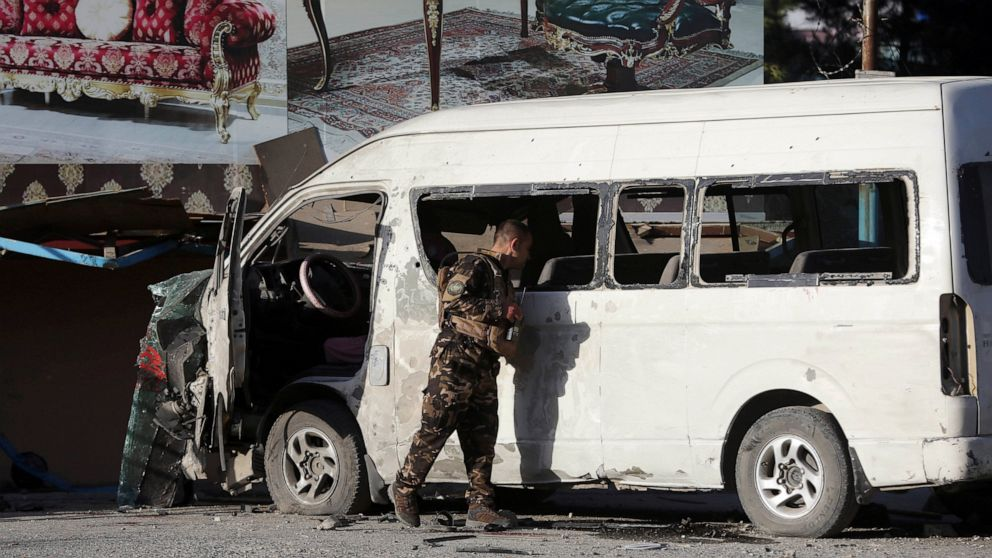 IS claims bombing attack on a TV station bus that killed 2