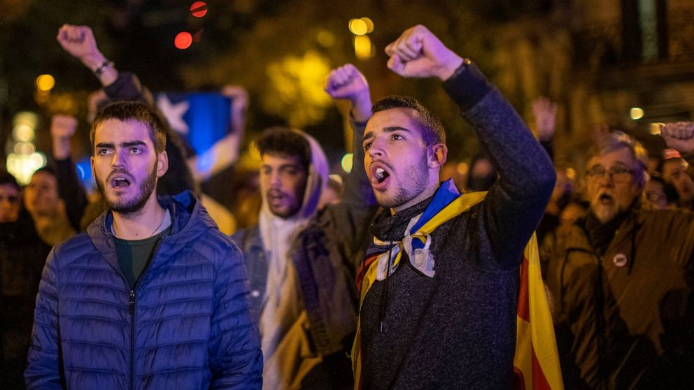 The Latest: European Parl't should decide on Catalan leader thumbnail