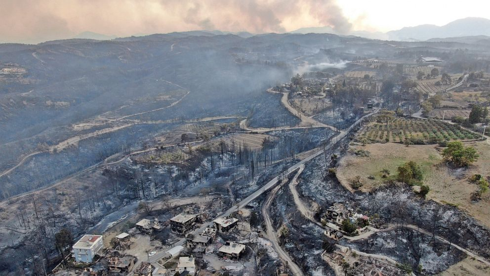 Wildfires in southern Turkey leave 3 dead, 58 hospitalized