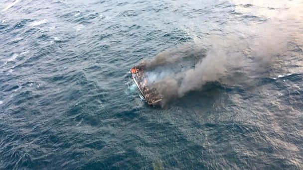 South Korean fishing boat catches fire; 1 dead, 11 missing