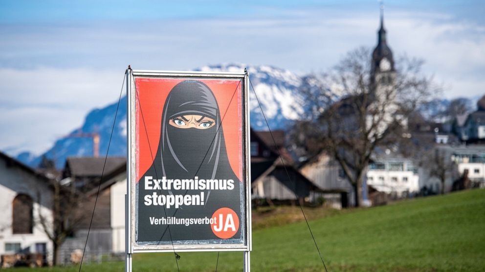 Swiss vote on proposal to ban face coverings in public
