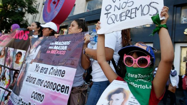 Mexicans march to demand safety and justice for women