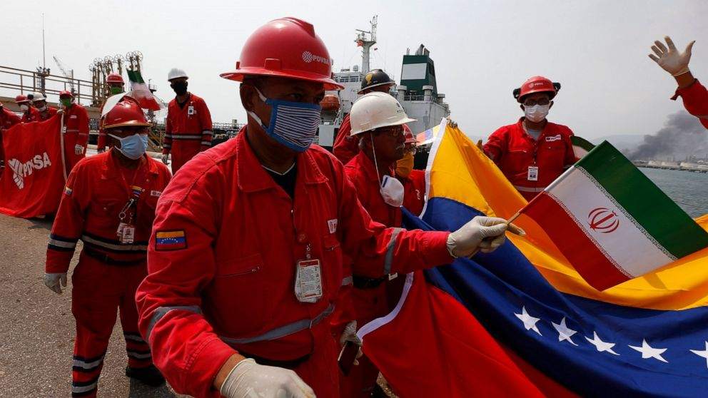 Iran sends shipment of food to Venezuela in latest delivery thumbnail
