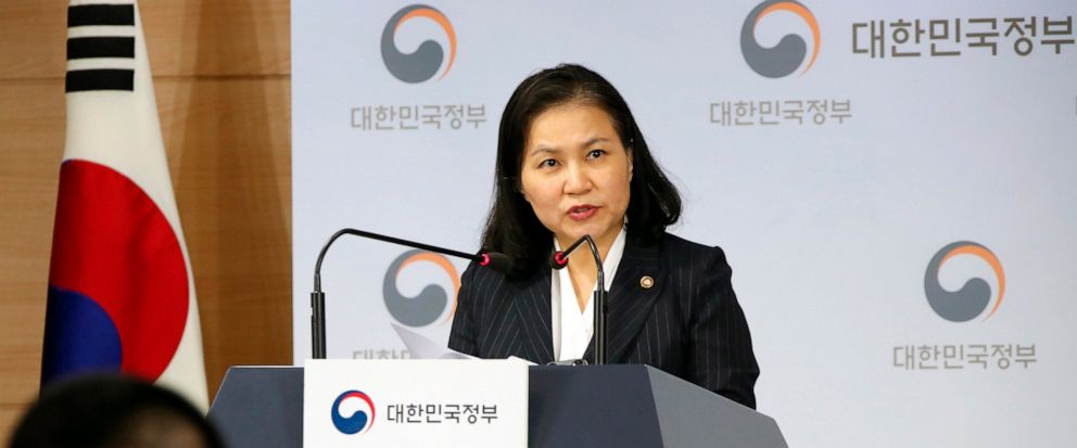 South Koreas senior trade official Yoo Myung-hee speaks during a briefing at a government complex in downtown Seoul, South Korea, Wednesday, Sept. 11, 2019. South Korea is filing a complaint with the World Trade Organization over Japans tightened e