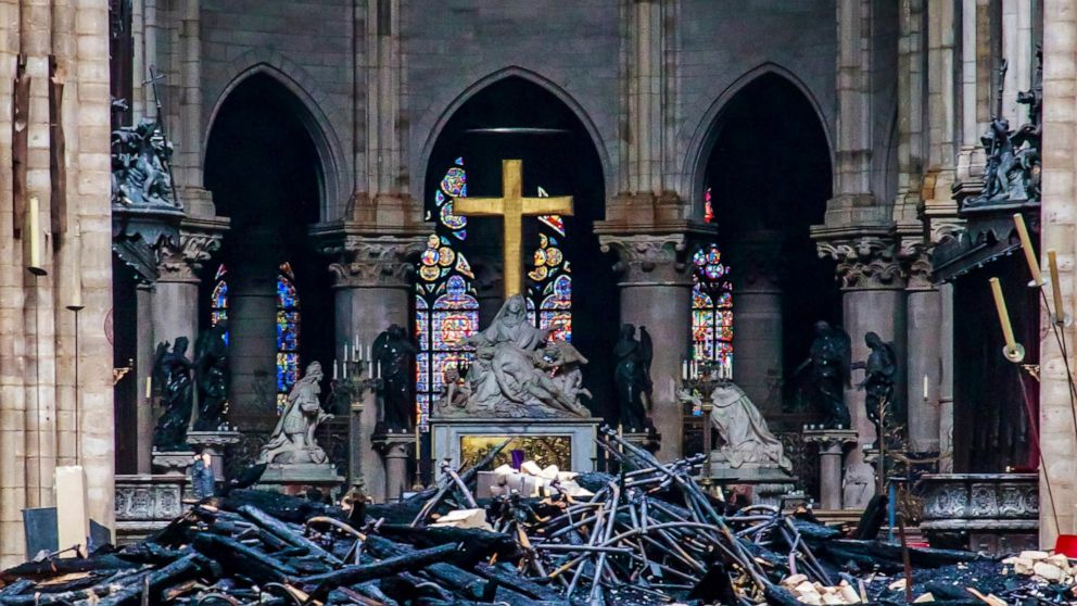 Notre Dame death Rising through to Notre Dame roof, grad falls, falls to his death