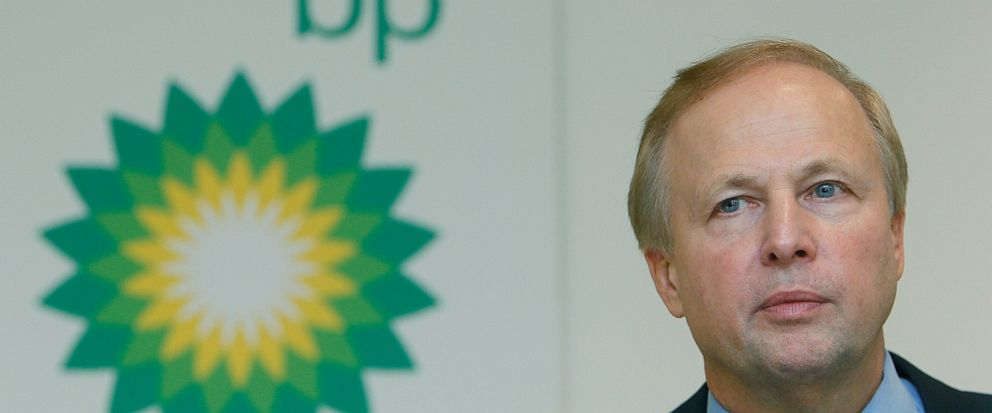 FILE - In this file photo dated Tuesday, Feb. 1, 2011, BP PLCs CEO Bob Dudley during a results media conference at their headquarters in London. According to a company announcement Friday Oct. 4, 2019, Bob Dudley will step down as group chief execut