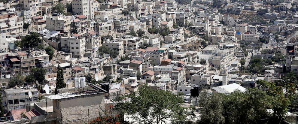 This Monday, Sept. 9, 2019 photo, shows a view of the east Jerusalem neighborhood of Silwan. New official data obtained by The Associated Press shows a spike in Jewish settlement construction in Israeli-annexed east Jerusalem since President Donald T