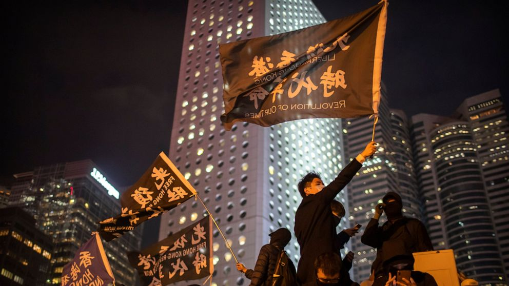 Hong Kong police slip on banana peel with tear gas tweet thumbnail