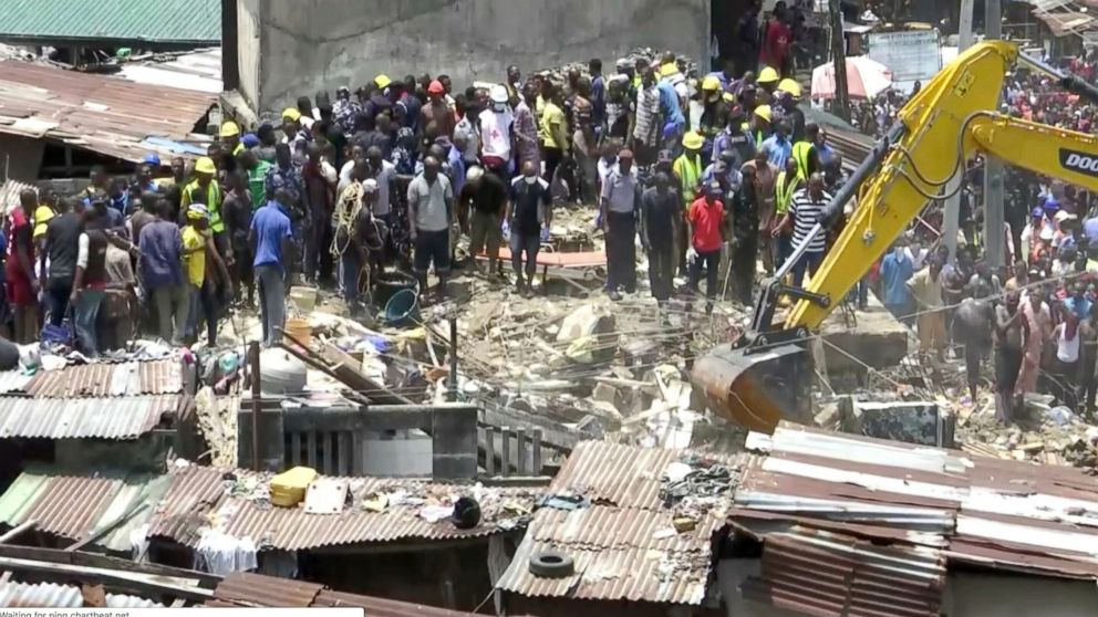 The Latest: 8 dead, 37 rescued in Nigeria school collapse