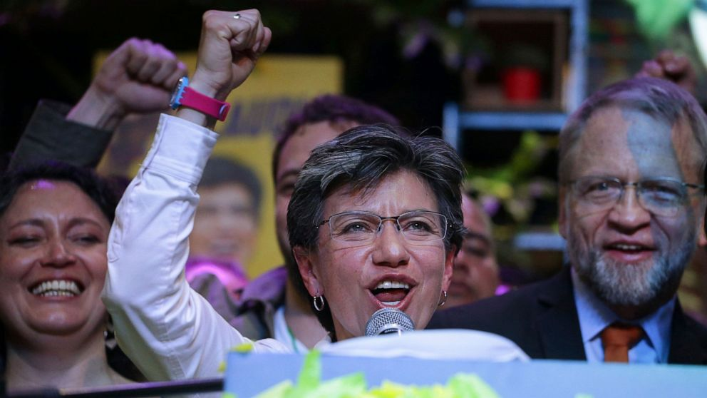 Colombia's capital city of Bogota elects first female mayor thumbnail