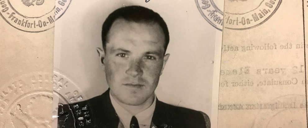 FILE - This 1949 photo provided by the U.S. Department of Justice shows a U.S. visa photo of Jakiw Palij, a former Nazi concentration camp guard who has been living in the Queens borough of New York. German media report that Jakiw Palij, a former Naz