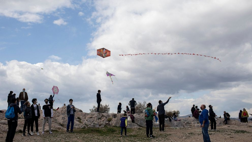 Greeks fly kites for Clean Monday holiday despite pandemic - ABC News