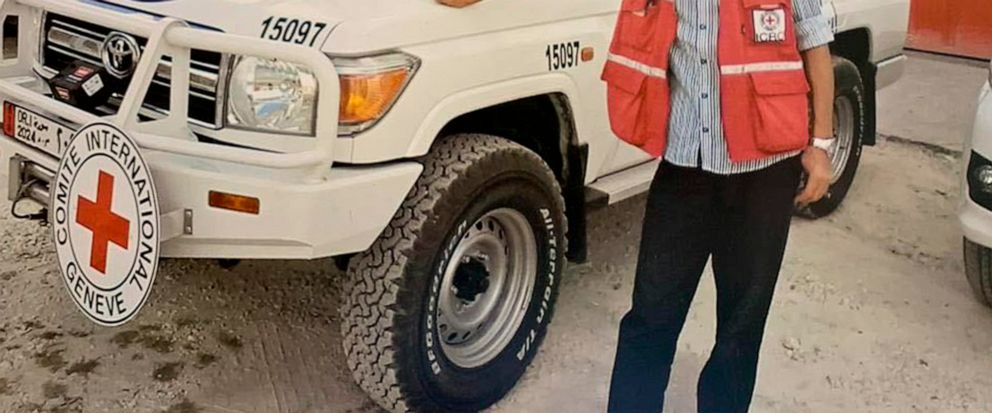 This undated photo provided on Monday, April 15, 2019, by International Committee of the Red Cross shows Syrian driver Nabil Bakdounes. New Zealands foreign minister has confirmed a New Zealand nurse has been held captive by the Islamic State group