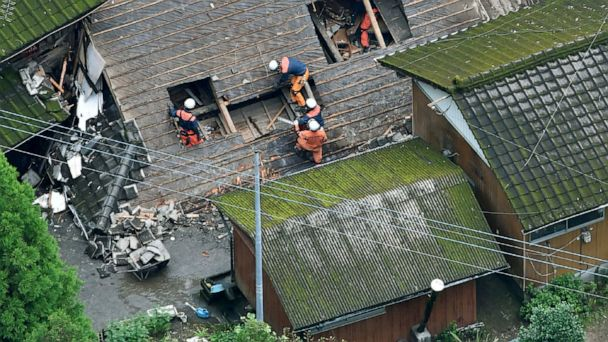 Heavy rain in south Japan causes flooding, mudslides; 4 hurt