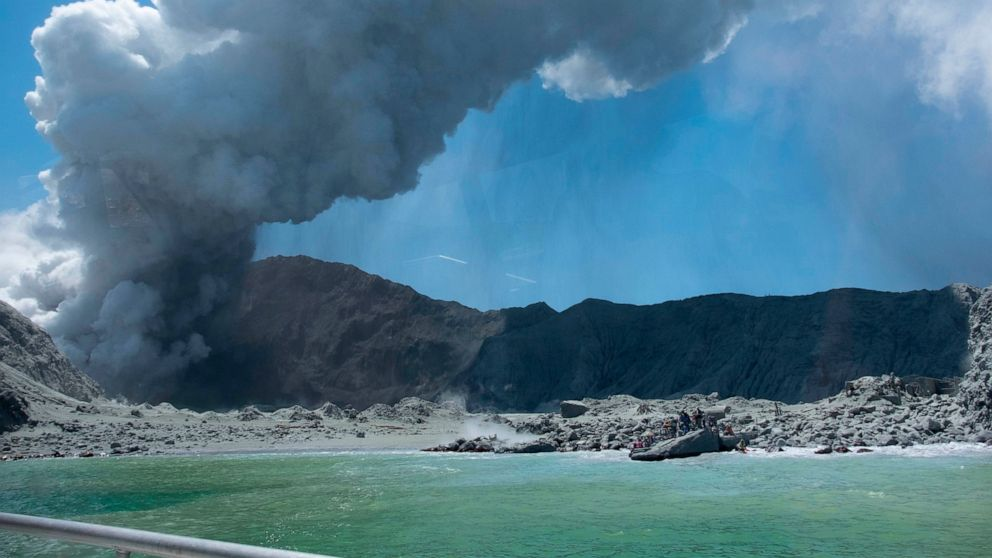 Survivors of New Zealand volcano ran into sea to flee steam