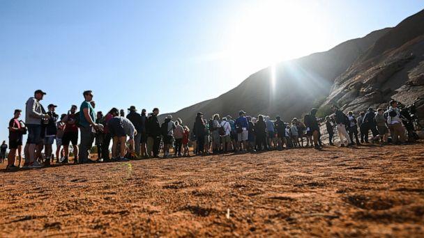 Australia's iconic rock Uluru scaled by final climbers