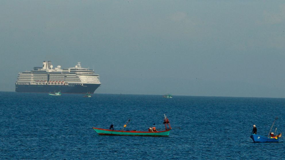 Cruise ship turned away in other ports docks in Cambodia