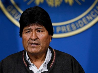 The Latest: Mexico raps Bolivia military in Morales quitting