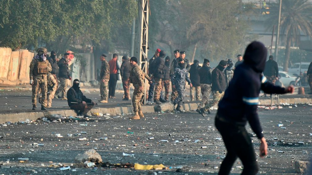 Iraqi officials: At least 13 wounded in violence in Baghdad