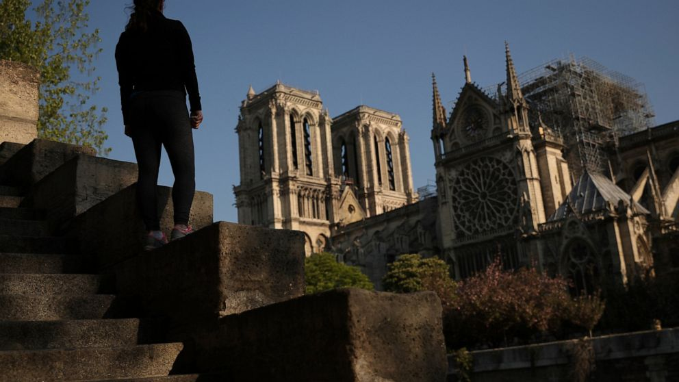 Displaced by a massive fire, Notre Dame Cathedral's Paris parishioners are gathering to celebrate Easter in another church and to pray for a speedy reconstruction of the beloved monument thumbnail