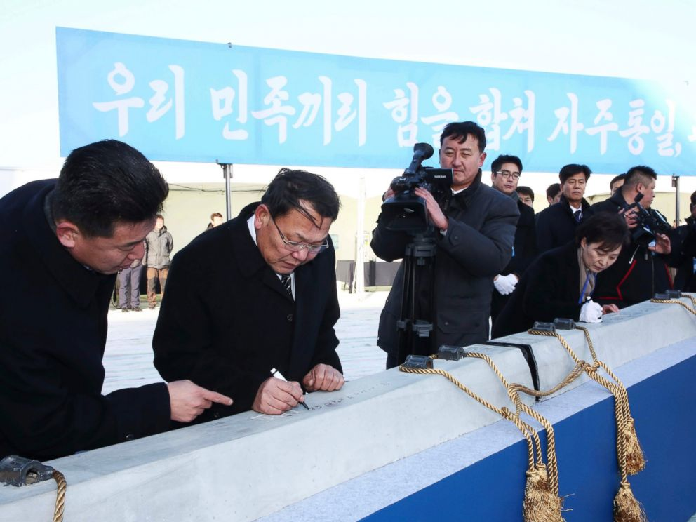 Koreas hold symbolic groundbreaking ceremony to link railroads across border