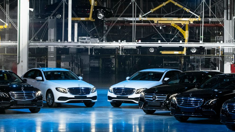 European Union authorities say that German automakers BMW, Daimler and Volkswagen colluded to limit the development of emissions cleaning technology in cars thumbnail