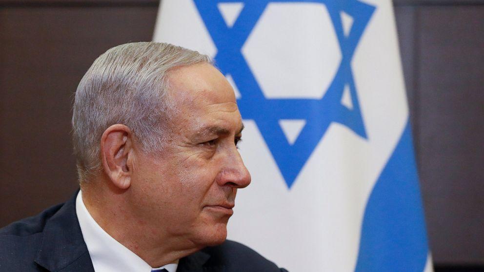 Der israelische PM beruft Kabinett in der West Bank vor der Wahl