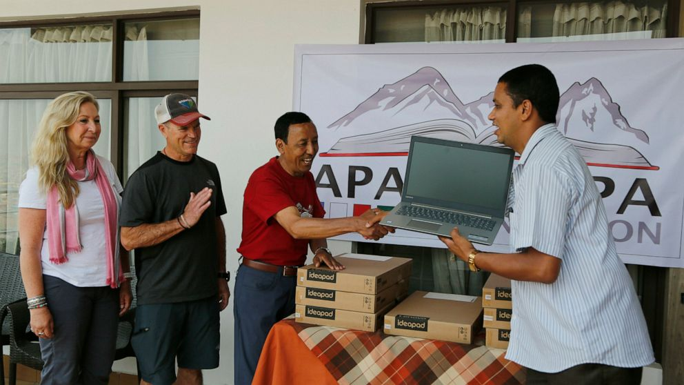 Famed Sherpa climber helps Nepal kids reach greater heights