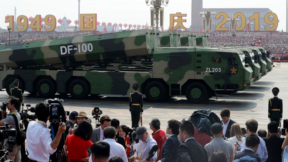 China Parades Its Latest Missiles In Challenge To Us Others Abc Images, Photos, Reviews