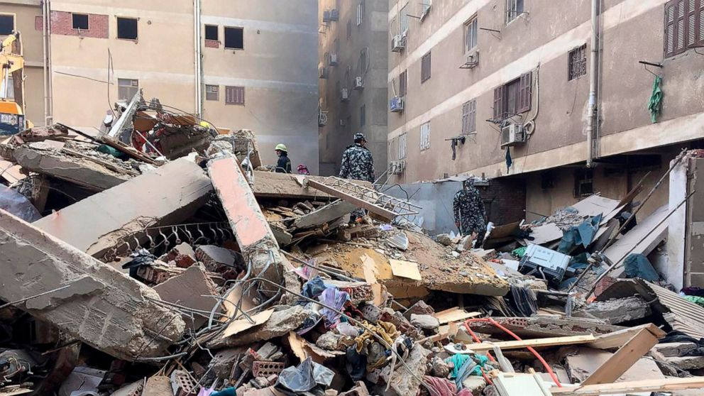 Five People Killed, 24 Injured After Apartment Building Collapses in Egypt's Capital