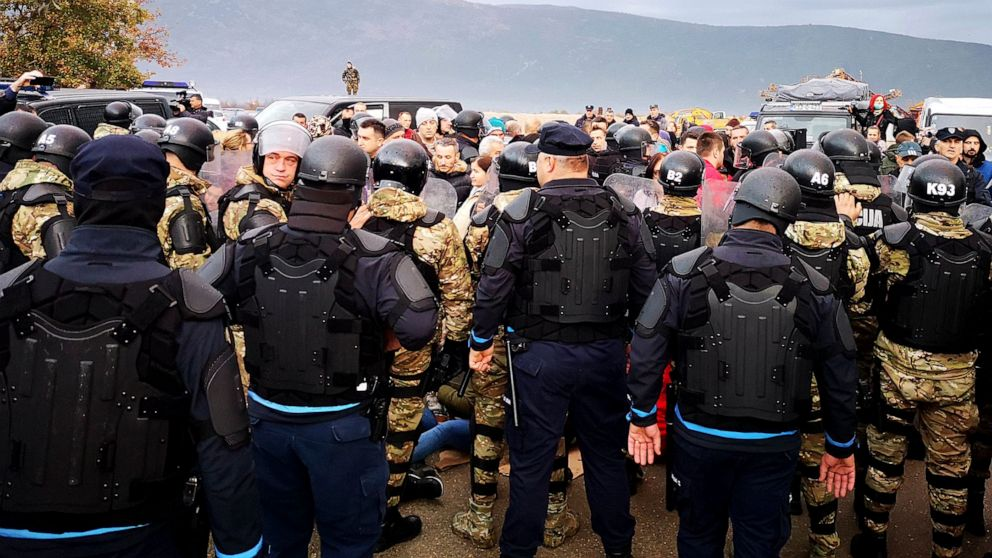 Bosnian police forcibly break up protest over landfill site
