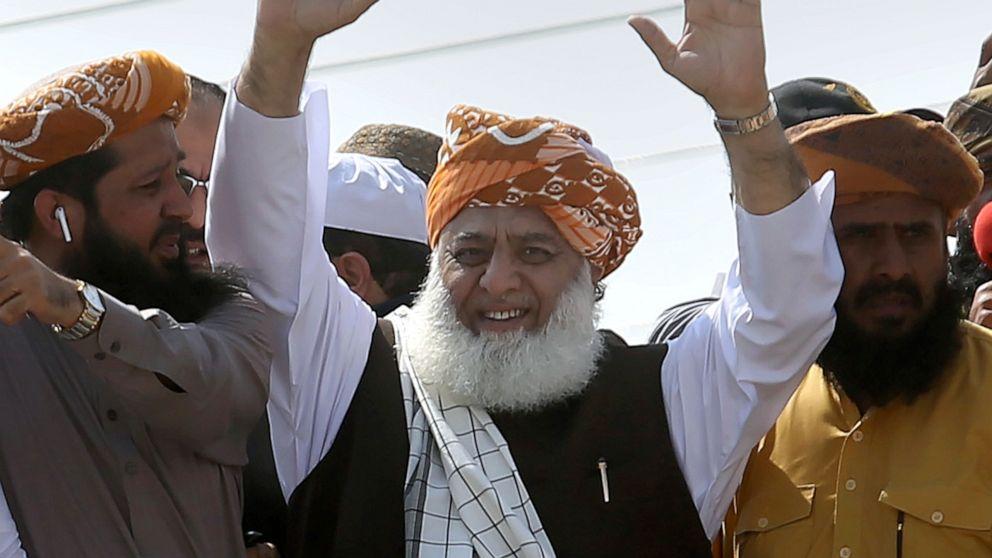 Große anti-Regierungs-Prozession Köpfe der pakistanischen Hauptstadt
