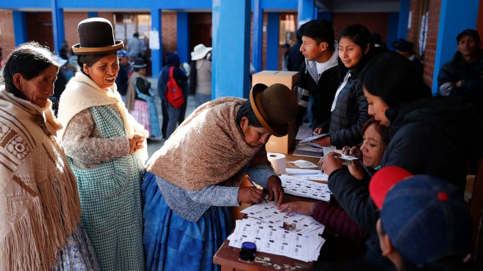 The Latest: Morales leads Bolivia vote, but runoff likely thumbnail