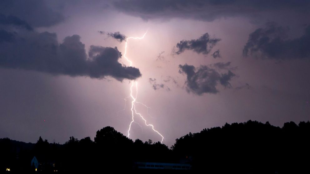 Rainstorms bring relief as Europe feels 1st summer heatwave