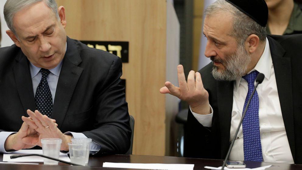 Israel ' s Netanjahu greift zu kurz, die parlamentarische Mehrheit